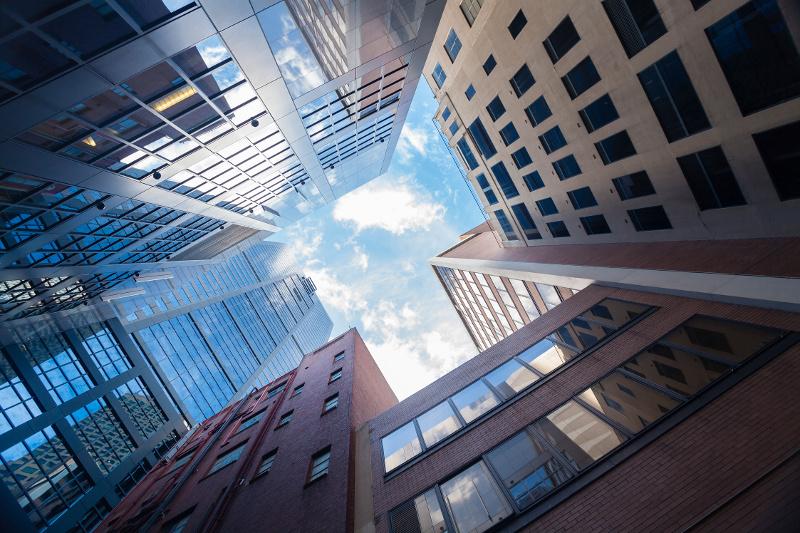 Urban Buldings Against Blue Sky
