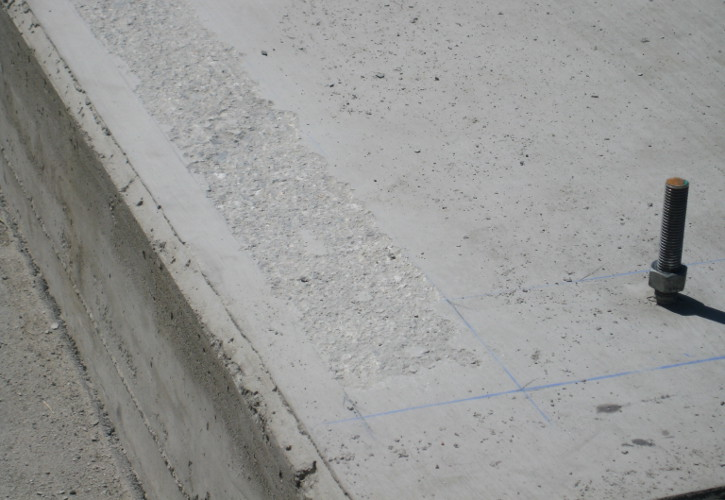 Closeup of Concrete Foundation Scabbling