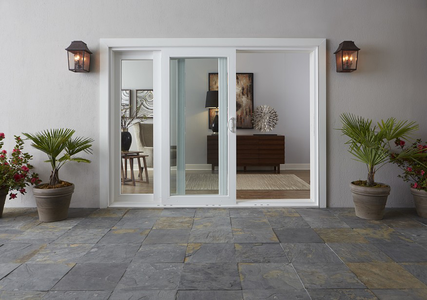 White sliding door